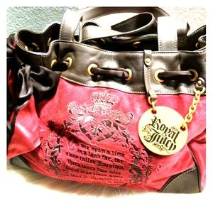 Handbags - JUICY COUTURE velvet You are the fairest satin bag